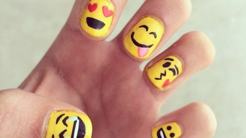 Emoji Nail Art: Show Your Emotions On Your Nails | StyleCaster