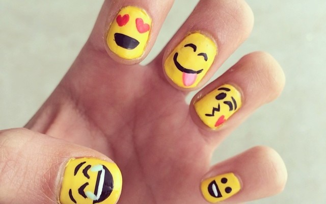 Wear Your Emotions on Your Hands With Emoji Nail Art