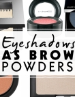The 8 Best Eyeshadows as Brow Powders