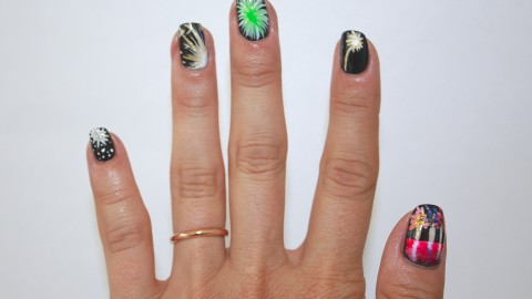 Nail Art How To: Fireworks For the 4th of July | StyleCaster