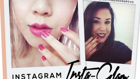 Instagram Insta-Glam: Matching Lips and Tips | StyleCaster