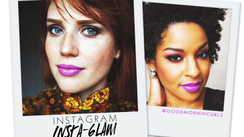 Instagram Insta-Glam: Purple Lipstick | StyleCaster