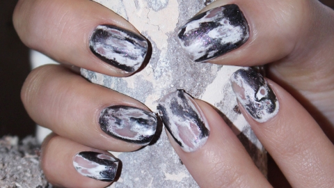 Halloween Nail Design: How to Get JINsoon's Grunge Manicure | StyleCaster