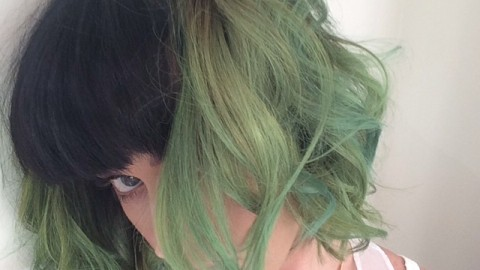 """Katy Perry Dyes Her Hair """"Slime Green"""" 