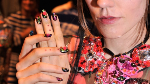 All the Details on the Foil, Pom-Pom Nails at Libertine Spring 2014   StyleCaster