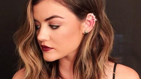 Get Lucy Hale's Dark Lip Look | StyleCaster