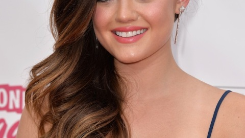 Get Lucy Hale's Navy Cat Eye From the Billboard Music Awards   StyleCaster