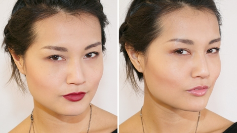 One Look, Two Finishes: Dewy Vs. Matte   StyleCaster
