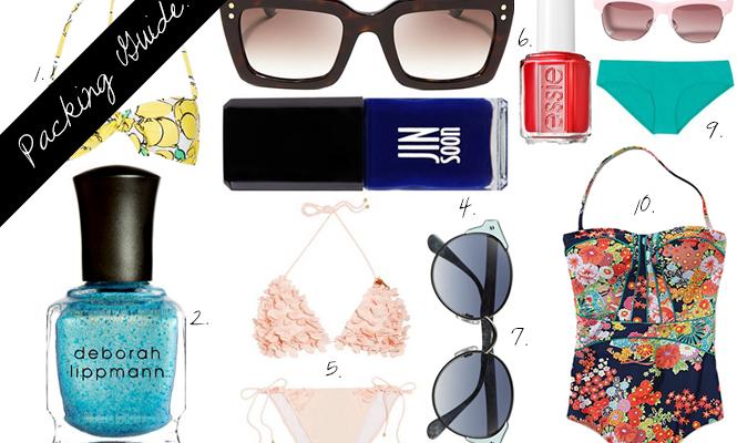 How to Match Your Bikini, Sunglasses and Nail Polish For the Beach