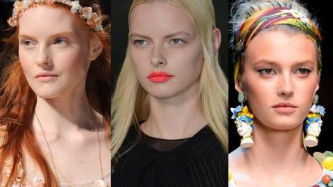 Milan Fashion Week: Bright Lips, Cat Eyes & Fabric as Makeup | StyleCaster