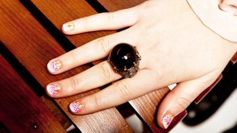 Nail Art DIY: Learn How To Get This Ombre Diamond Print Yourself | StyleCaster