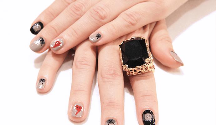 Halloween Nail Art: Get KAWS-Inspired Love & Death Nails