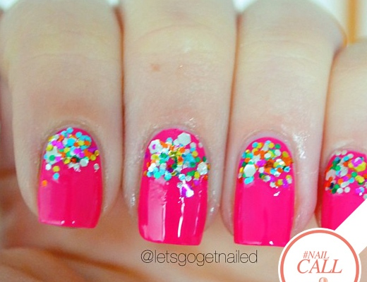 Tuesday's #NailCall: Half Moon Manicures, Pops of Patterns & More