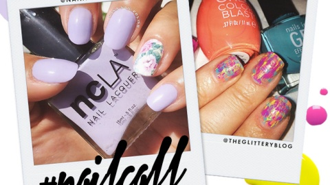 Tuesday's #NailCall: Splatter Paint Nails and Gold French Manicures | StyleCaster