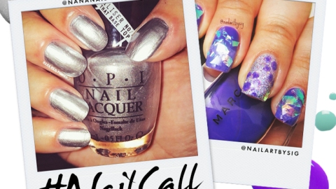Tuesday's #NailCall: Negative Space Nail Art and Metallic Polish | StyleCaster