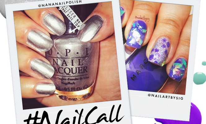 Tuesday's #NailCall: Negative Space Nail Art and Metallic Polish
