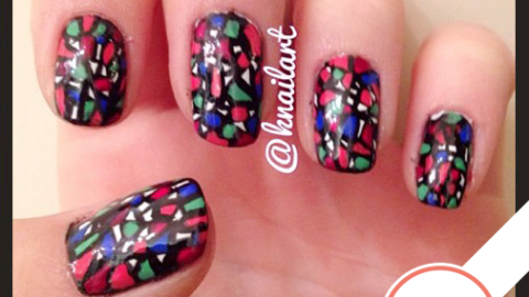 Tuesday's #NailCall: Stained Glass, Glitter & Gold | StyleCaster