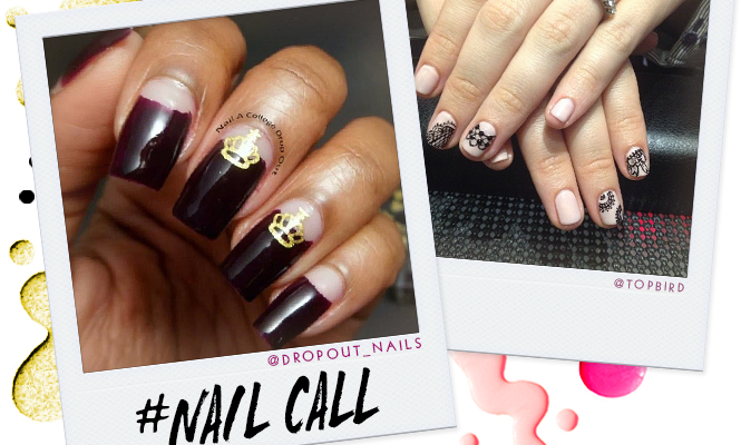 Tuesday's #NailCall: Negative Space Nails and Graphic Looks