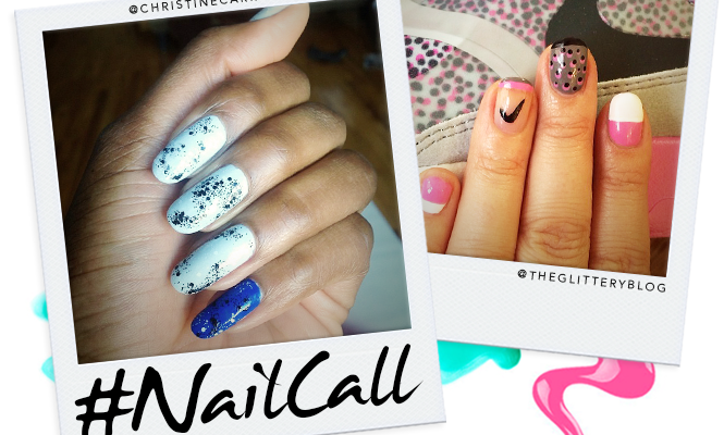 Tuesday's #NailCall: Hand Painted Decals and Tons of Glitter