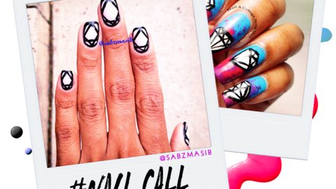 Tuesday's #NailCall: Diamond Nails and Geometric Prints | StyleCaster