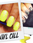 Tuesday's #NailCall: Black, White and Textured All Over