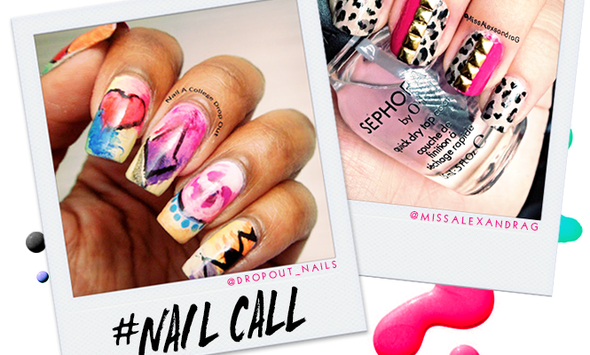 Tuesday's #NailCall: Accent Nails and Graffiti Designs