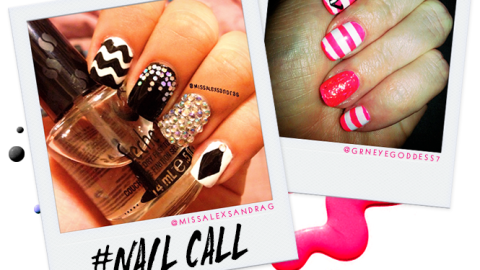Tuesday's #NailCall: Cosmic Designs and Chevron Prints | StyleCaster