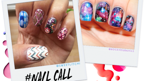 Tuesday's #NailCall: Galaxy Prints and Spooky Designs | StyleCaster