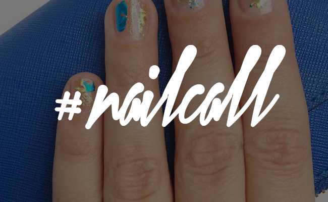 Tuesday's #NailCall: Glittery and Metallic Gold Accents