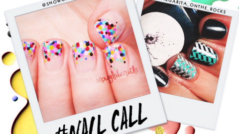 Tuesday's #NailCall: Autumn Colors and Confetti Tips | StyleCaster