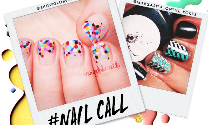 Tuesday's #NailCall: Autumn Colors and Confetti Tips