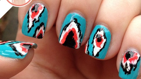 Tuesday's #NailCall: Ikat Manicures and Summer Nail Art Ideas | StyleCaster