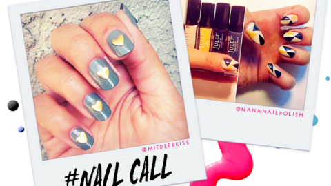 Tuesday's #NailCall: Speckles and Fun Shapes   StyleCaster