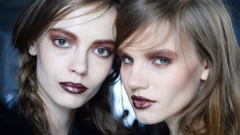 Rodarte Fall 2014: Metallic Lips and the Perfect Subtle Waves | StyleCaster