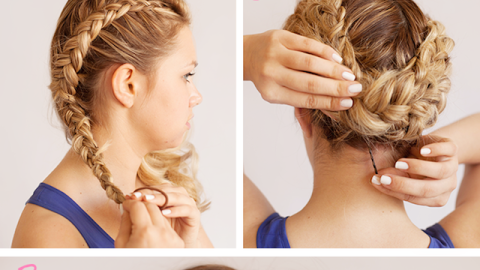 Prom Updos: Get Milkmaid Braids for Prom | StyleCaster