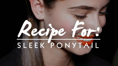 Beauty Recipe: Sleek Low Ponytail   StyleCaster