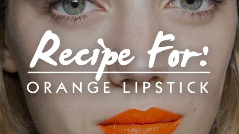 Beauty Recipe: Bright Orange Lips | StyleCaster