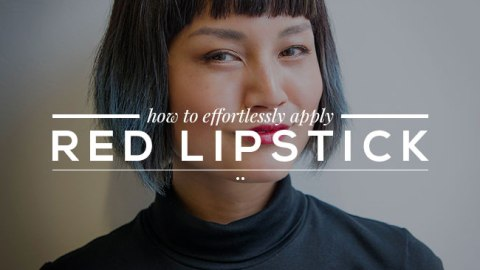 The Easiest Way To Apply An Effortless Red Lip   StyleCaster