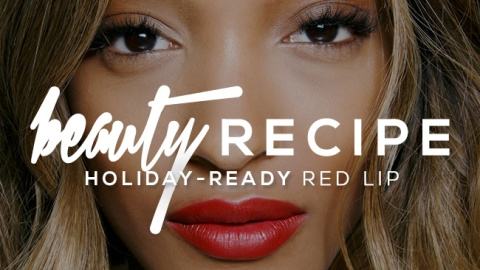 Get the Recipe For This Holiday-Ready Red Lip | StyleCaster