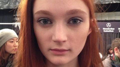 Backstage Beauty: How to Get the Velvety Jade Eyes at Richard Chai   StyleCaster