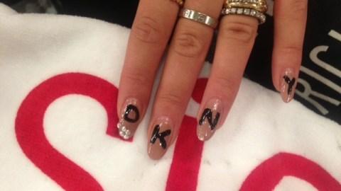 Exclusive: Rita Ora Had Custom DKNY Nail Art to Close the Show | StyleCaster
