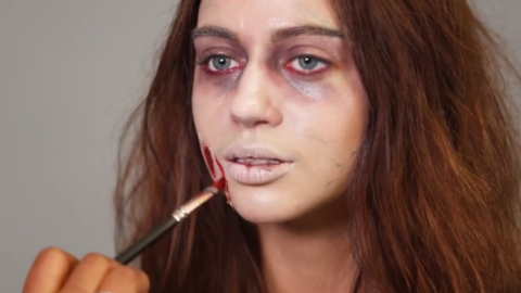 The Only Zombie Halloween Makeup Video You Need | StyleCaster