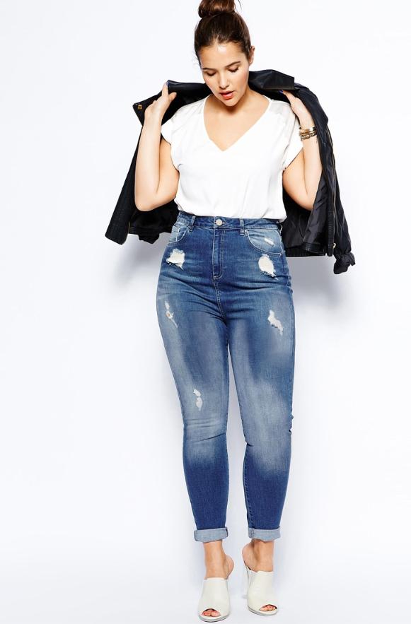 asos plus sized jeans