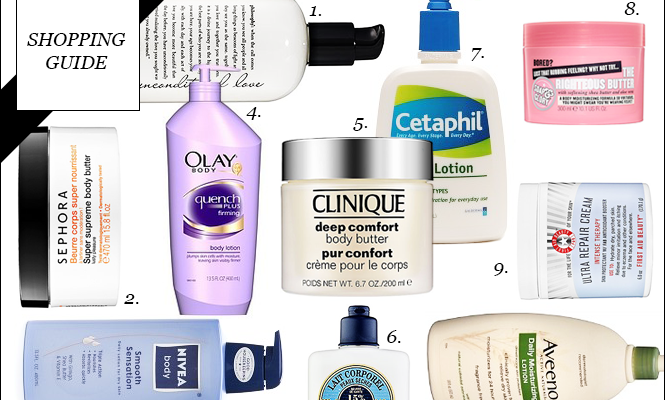 Shopping Guide: 20 Body Lotions to Keep Your Skin Hydrated Through Winter