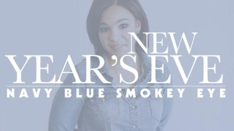 New Year's Eve Makeup Idea: The Navy Smokey Eye | StyleCaster