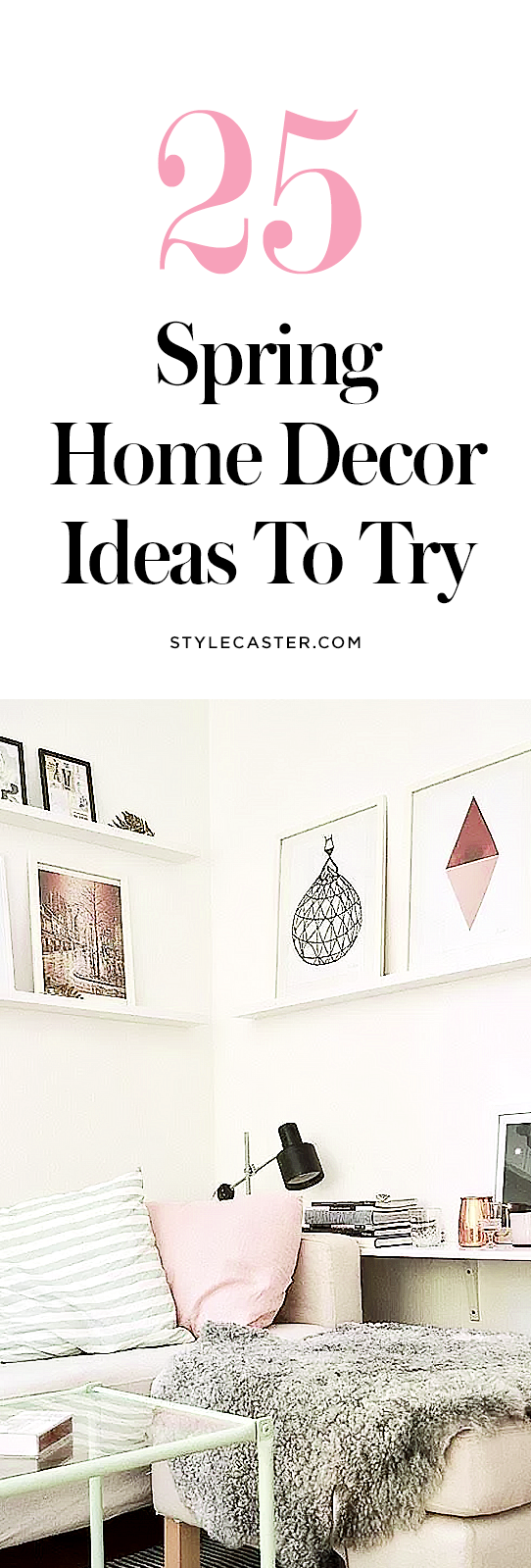 25 modern Spring home decor ideas | Major inspiration ahead! Interior decorating with pastels @stylecaster