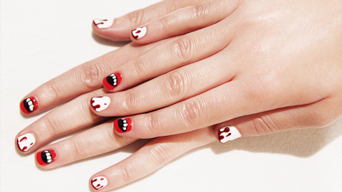Halloween Nail Art: Get Vampire Fang and Blood Nails to Creep Out Your Friends   StyleCaster