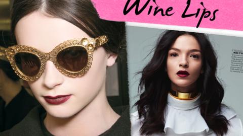 Mood Board: Wine Lips   StyleCaster