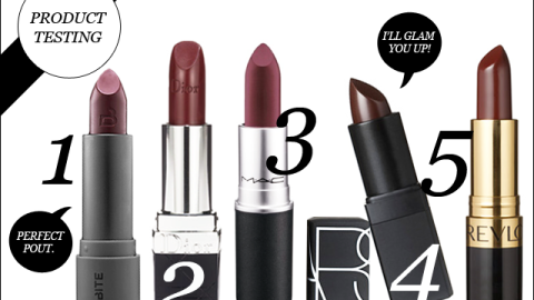 Product Testing: Top 5 Wine Colored Lipsticks | StyleCaster