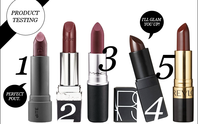 Product Testing: Top 5 Wine Colored Lipsticks